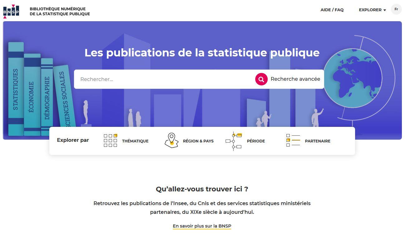 La Bibliothèque numérique de la statistique publique fait peau neuve ! |